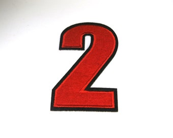 """Iron-on """"number 2"""", applique, application"""