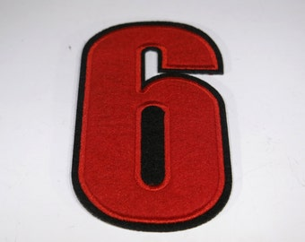 """Iron-on """"number 6"""", applique, application"""