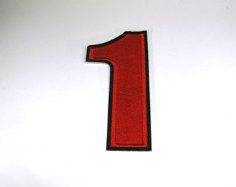 """Iron-on """"number 1"""", applique, application"""