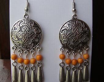 Earrings, chandelier earrings, boho earrings, long earrings, dangle earrings, southwestern jewelry, boho chic