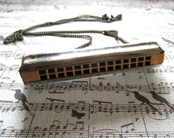 Harmonica, Mouth Organ, French Harp, Wind Instrument - Vintage 'Popularity' Butterfly Harmonica