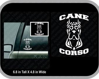 Cane Corso cropped ears car decal, Cane Corso decal, Corso decal, Italian Mastiff decal, cropped ears, corsi decal