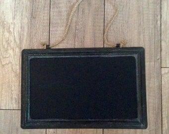 Metal Chalkboard with Twine Hanger