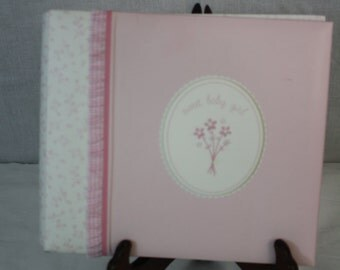 "Just One Year Carter's Pink Sweet Baby Girl Scrapbook 8""x8"""