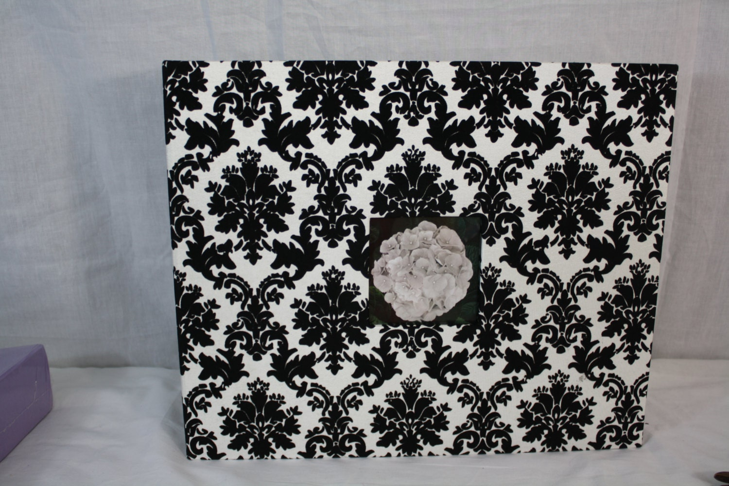 American crafts black white cloth scrapbook d ring album for American crafts page protectors 8x8