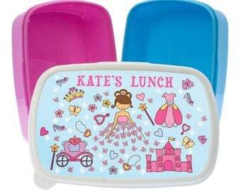 The Pretty Princess Lunch Box - Girl's & Boy's Lunch Box - Made to Order - Custom - Personalized - Children's Lunch Box - FREE UK DELIVERY!
