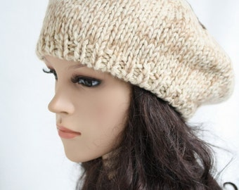 Blending knitted hat  Women Teens Accessories  Fall Winter Fashion  Chunky Beret