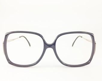 Vintage Eyeglass Frame | Metzler Oversized Frames | 1980s Round Glasses | NOS Vintage Deadstock  - Klaudia XX