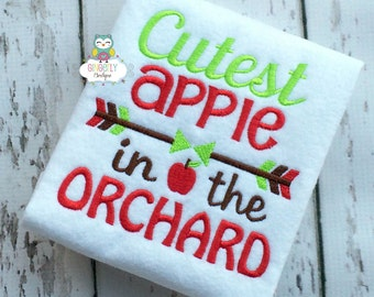 Cutest Apple in the Orchard Shirt or Bodysuit, Boy or Girl Apple Shirt, Apple Shirt, Fall Apple Orchard Shirt, Apple Orchard Shirt
