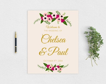 Rustic Welcome Wedding Sign Printable PDF