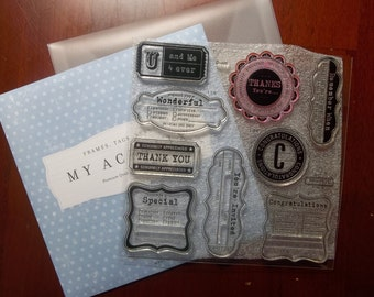 D1496 -- U and ME SEALS -- A CTMH stamp set.  Gently used and ready to ship.