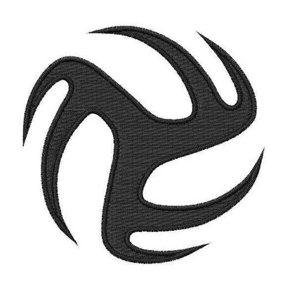 Tribal Volleyball Embroidery Design By Embroidstock On Etsy