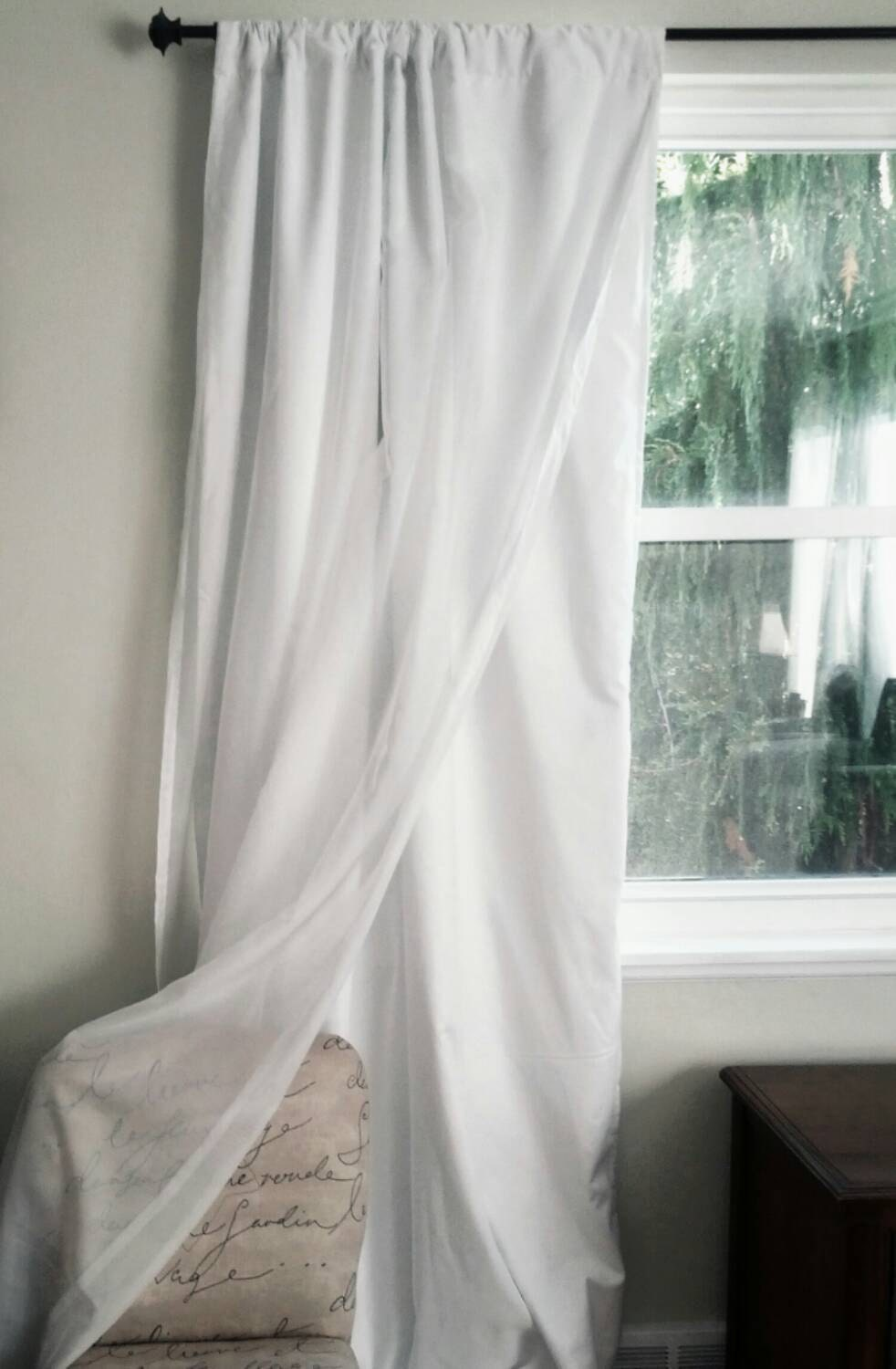 Sheer curtains privacy panel -  Zoom