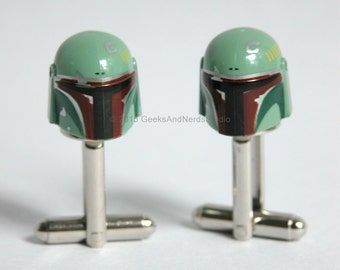 Boba Fett Cufflinks - Groomsmen Gift - LEGO Star Wars Cufflinks - Mens Cufflinks - Gift for HIm - Best Man Gift - Star Wars Wedding Geek