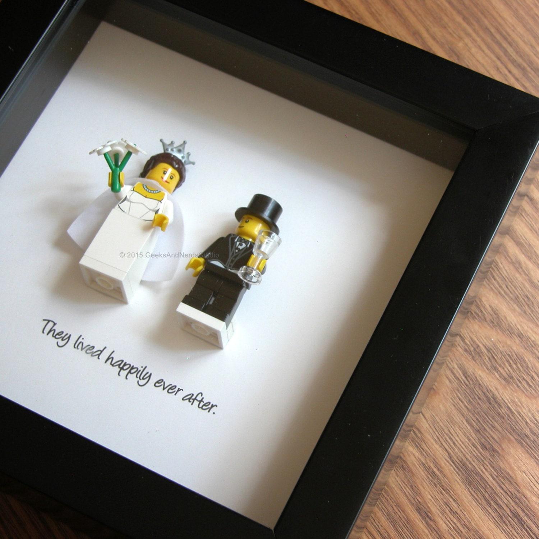 The Wedding Gift Shop: Wedding Centerpiece LEGO Art Frame Bride & Groom LEGO