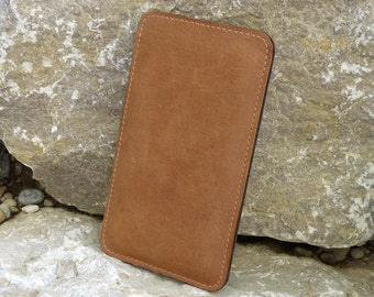 iPhone 6 Sleeve, iPhone 6 Plus Case, iPhone 6S Pouch SlimLine NOUGAT Organic Leather, Wool felt
