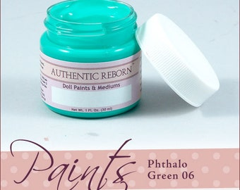 AuThEnTiC ReBoRn PtHaLo GrEeN 06 Paint for ReBoRn DoLL ~ 1 OuNcE