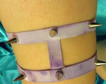 Pastel Purple Spiked Garter