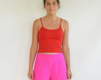 Hot Pink Fuschia Nylon Beach Shorts Surfer Shorts Catalina Front zip Neon Pink Boarding Shorts
