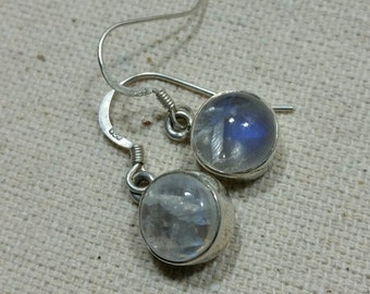 Moonstone Earrings Sterling Silver