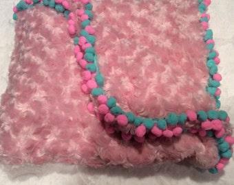 Pom Pom baby blanket