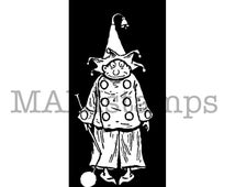 Circus rubber stamp / Brownie Clown / Unmounted rubber stamp (150522)