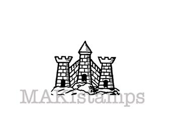 Castle stamp / Medieval rubber stamp / Heraldry rubber stamp (150716)