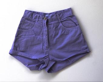 Lilac high waisted Denim Shorts