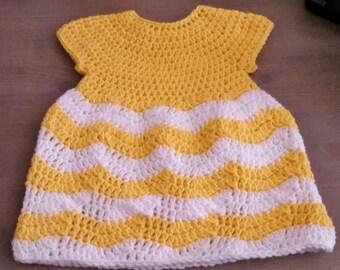 Crochet Baby/Toddler/Girls Chevron Dress