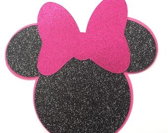 Minnie Mouse die cut DIY glittered