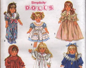 """Simplicity Pattern 8692 Clothing for 18"""" Doll"""