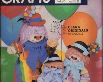 McCalls Pattern 762 Clarence the Clown Dolls