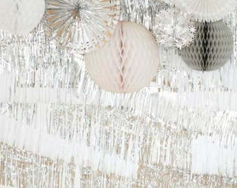 Metallic Fringe Banner Photo Decor Backdrop