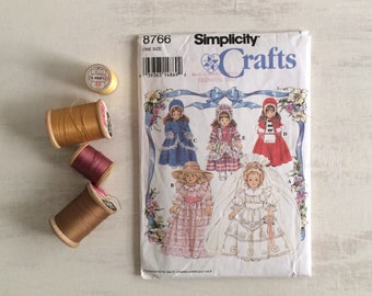 Fancy Doll Clothes Pattern for Collector Dolls, 1993