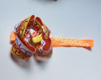 Candy corn boutiqye bow headband