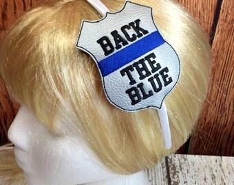 Back The Blue - POLICE - Headband Slip On - Law Enforcement - In The Hoop - Snap/Rivet Key Fob - DIGITAL Embroidery Design