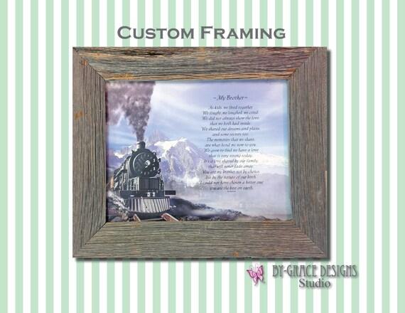 Custom Framing - Frame Add-on for your Prints - Wood Frames - Metal Frames - Plastic Frames Rustic Barn Wood Frames