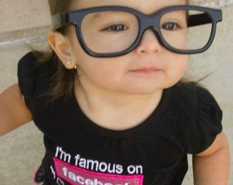 I'm Famous on Facebook shirt and Bow-Personalized