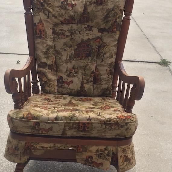 vintage tell city rocking chair hard rock maple furniture