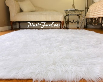 Large Discount Faux Fur Rugs Shaggy Area Rug Sheepskin Rectangle Decor Baby Bedroom  Throw Rug 8