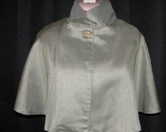 Medieval Renaissance Olive green Cloak Cape Mantle Caplet