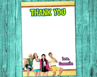 Teen Beach Movie 2 Thank You Card - Printable Personalized Thank You Note matches Birthday Invitation Party Supplies