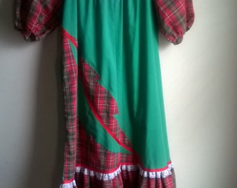 Fun plaid frock by Malumi Hawaii