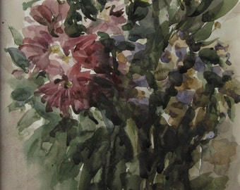 Autumn flowers 3  - original watercolor