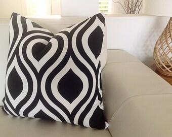 Black Pillows, Black Cushions, Cushion Cover Geometric Black and White, Teal Pillows, Yellow Cushions, Modern Toss Pillows. Scatter Cushions