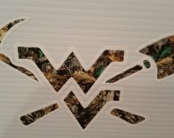 West Virginia  Camo Sticker Decal