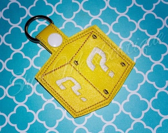 Question Block Key Fob/Zipper Pull design Instant Download