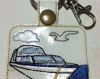 Boat 2 Key Fob/Zipper Pull design Instant Download