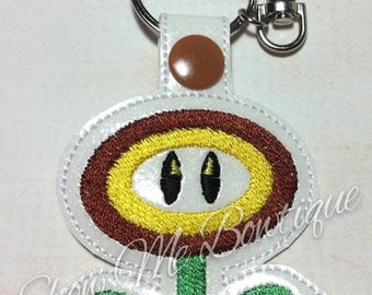 Fire Flower Key Fob/Zipper Pull design Instant Download
