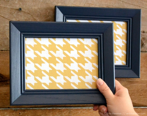 pair of 5x7 navy blue picture frames navy blue wall frames upcycled picture frames